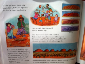 look at the colours of Uluru...